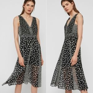 All Saints Macella Scatter Dress Size 4